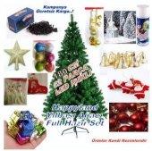 Yılbaşı 2018 Noel Özel Lüks Yılbaşı Ağacı Hazır Set 180 Cm Işıklı