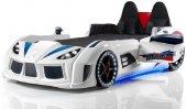 Farinay Mobilya Audı V7 Kapılı Beyaz Araba Tasarımlı Karyola