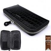 Weoze Unisex Cüzdan Ve Kartlık Fermuarlı 5,7 Telefon Crocodile