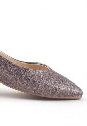 Gema Metalik Cilt Bayan Babet Ayakkabı