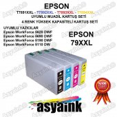 Asyaink Epson Wf 5620dwf Yazıcı Uyumlu Muadil Kartuş Seti