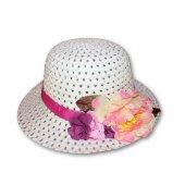Kız Çocuk Çiçekli Şapka
