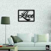 Love Metal Tablo Duvar Dekoru