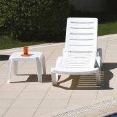 Siesta Aqua Şezlong Ve Sehpalı Havuz Plaj Takımı Beyaz