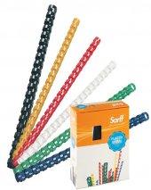 Sarff Plastik Spiral 18 Mm Beyaz 100 Lü (1 Paket 100 Adet)