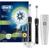 Oral B Pro 790 Şarj Edilebilir Diş Fırçası Siyah 2&#039 Li Paket