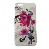 Apple İphone 6 Plus 6s Plus Kılıf 3d Flower Kabartmalı Desenli Sert Arka Kapak