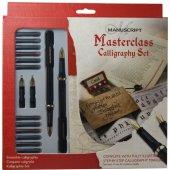 Manu Masterclass Calligraphy Set (2 Kalem + 4 Uç + 12 Renkl