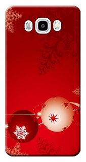 Samsung Galaxy J5 Kılıf Sm J500 Silikon Baskılı Noel Süsleri Stk
