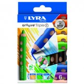 Lyra Groove Triple One 3 İn 1 Boya Kalemi 6 Renk