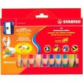 Stabilo Woody 3 İn 1 Crayon (Kuru + Pastel + Sulu Boya) 10 Renk +