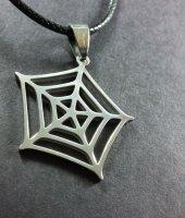 örümcek Ağı Paslanmaz Çelik Bayan Kolye Erkek Kolye Spiderman Çelik Kolye Trend Kolye
