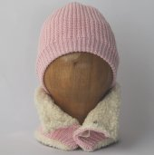 Organik Bebek Şapka Atkı Takım Organic Bonny Baby Şapka Atkı Takımı