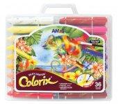 Amos Colorix Silky Crayon Üçü Bir Arada Boya 36 Renk