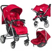 Beneto Bt 2050t Pasific Travel Sistem Bebek Arabası Kırmızı