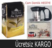 Beta Taç Yaprak Türk Çayı 1000 Gr + Cam Demlik