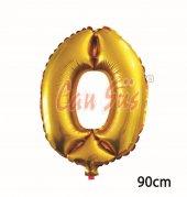 40inç O Harfi Folyo Balon Gold 90cm