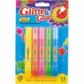 Amos Glitter Glue Neon Simli Yapıştırıcı 10,5 Ml X 5 Renk