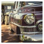 Dekoratif Baskılı Elektrik Düğmesi Priz Kapı Zili Klasik Araba