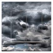 Dekoratif Baskılı Elektrik Düğmesi Priz Kapı Zili Bulutlar