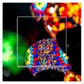 Dekoratif Baskılı Elektrik Düğmesi Priz Kapı Zili Renkli Işıklar
