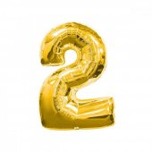 2 Rakam Altın Folyo Balon 100 Cm
