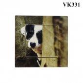 Dekoratif Baskılı Elektrik Düğmesi Priz Kapı Zili Şirin Köpek