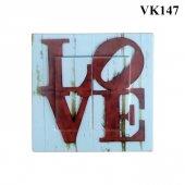 Dekoratif Baskılı Elektrik Düğmesi Priz Kapı Zili Love Aşk
