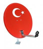 80cm Türk Bayraklı Çanak Anten Full Hd Ve 4k Uyumlu