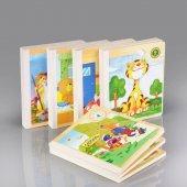 Ceebebek Ahşap Çocuk Puzzle Kitabı 6 Adet Yapboz Zeka Eğitici Oyuncak Kitap Okul Öncesi Eğitim Ücretsiz Kargo