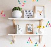Ceebebek Ahşap Bebek Çocuk Odası Duvar Rafı Kitaplık Beyaz Montessori Raf İki Adet