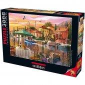 Anatolian 3000 Parca Limanda Günbatımı Puzzle