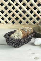 Plastik Örme Dikdörtgen Ekmek Sepeti Küçük