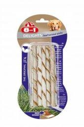 8 İn 1 Beef Delights Twisted Sticks Köpek Ödülü