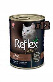 Reflex Plus Biftekli Püre Kedi Konservesi 400 Gr 12li Paket