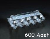 10 Lu Plastik Yumurta Viyolü (600 Adet) Viyolpazarı