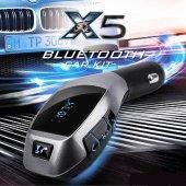 Bluetooth Arac Kiti Fm Transmitter Telefon Araç Dönüştürücü