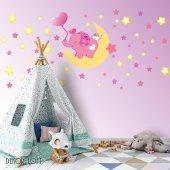 Dekorloft Fil Ve Yıldızlar Uyku Arkadaşlarım Çocuk Odası Sticker
