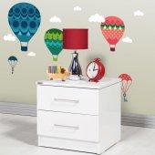 Dekorloft Renkli Uçan Balon Çocuk Odası Sticker Cs 131
