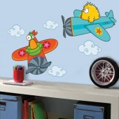 Dekorloft Çılgın Pilotlar Çocuk Odası Duvar Sticker Cs 319