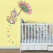 Dekorloft Çiçek Kız Çocuk Odası Duvar Sticker Cs 321