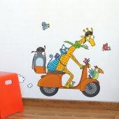 Dekorloft Komik Motorcu Çocuk Odası Duvar Sticker Cs 332