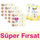 Uni Baby Sensitive Islak Bebek Havlusu 16 Adet + Bakım Örtüsü 20 Adet
