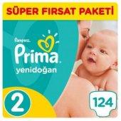 Prima Bebek Bezi Yenidoğan Süper Fırsat Paketi 2 Beden 124 Adet