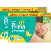 Prima Bebek Bezi Yenidoğan Süper Fırsat Paketi 1 Beden 264 Adet
