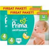 Prima Bebek Bezi Aktif Bebek Fırsat Paketi 4 Beden 132 Adet