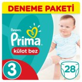 Prima Külot Bebek Bezi Deneme Paketi 3 Beden 28 Adet