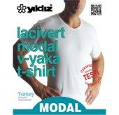 Yıldız 153 Erkek Modal V Yaka T Shirt
