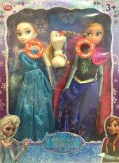 Karlar Ülkesi Şarkı Söyleyen Elsa Anna Işıklı 2li Set Bebek