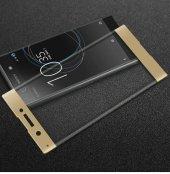 Sony Xperia Xa1 Ultra Tam Kapatan Kavisli 3d Cam Altın